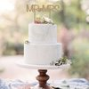 MR & MRS CAKE TOPPER (M0112) by Miss Magpie