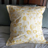 Yellow on White 50x50cm Scatter Cushion by Criss Cross