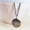 Antique Silver Photo Locket Necklace (LS03) by Heart Jewelry Creations