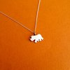 Handmade Sterling Silver - Rhino Pendant by Jessica Jane Jewellery