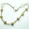 Fire Gem Glass Bead Necklace by Glass Cuttings