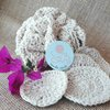 Face Scrubbies & body loofah combo - pure cotton undyed yarn, crocheted and reuseable by needle nerds