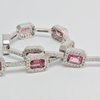 18CT Gold, Pink Tourmaline & Diamond Bracelet by Buds Vintage, Antiques & Collectibles