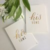 His and Hers Vow book set for wedding gift bride keepsake by Love & Sparkles