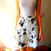 Last of Stock: Floral Linen Skater Skirt by Hannah-Rose Smith