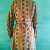 Vintage Brown 60's Mini dress with long sleeves by Cactus Tree Vintage Clothing