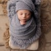 Fuzzy blanket, knit newborn blanket, fluffy layer by Lavender Blossoms Props