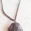 Antique Silver Photo Locket Necklace (LS07) by Heart Jewelry Creations