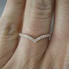 9ct Rose Gold Diamond Wishbone Band by Carat Jewellers