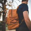Genuine leather backpack by Dewald Kirsten