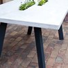 Cement & Steel Table  by MATWILDESIGN