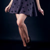 Heart print flare skirt by ASW-Designs
