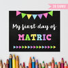 First Day of School Chalkboard Sign Pack, Girl, Reusable, Back to School, Printable, First Day Photo Prop, 1st Day by EyePop Designs