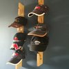 Wall Mounted Wooden Cap Rack by the Man Stand