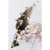 Abstract Nature Wall Art Print 9 | A2 (40x60cm) | Floral | Flowers | Botanical | Black | Pink | Gold by Sonny Mo Arts