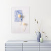 Abstract Nature Wall Art Print 12 | A2 (40x60cm) | Botanical | Flowers | Floral | Dusty Blue by Sonny Mo Arts