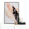 Abstract Nature Wall Art Print 2 | A1 (60x90cm) | Botanical | Floral | Flowers | Blush Pink | Black by Sonny Mo Arts