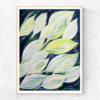 Printable Abstract Leaves Acrylic Painting in Size A5, A4, A3 and 10 x 8 Inches (PDF in ZIP). Small and Medium Size Wall Art for Nature Lovers, made in Cape Town. adri art by WHISP by Adri