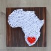 Africa String Art (with heart) by Heartstrings and Creative Things