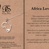 Pretty Silver Africa Love Pendant and chain by Havilah Designer Jewellers