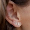 Sterling silver Aleph Shin Studs (FIRE in Hebrew)  by Elloise Jewelry