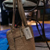 Anele Ostrich Leather and Canvas Handbag by Modern & Tribal Designs