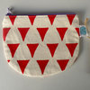 "Round Pouch ""Red Triangles"" by Sew & Such"