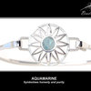 Sterling Silver BradDaShey interchangeanle face piece  for bangle March by Havilah Designer Jewellers