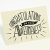 """Congratulations on your awesomeness"" illustrated card by Tatjana Buisson Design/ Illustration"