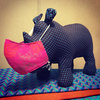 Shweshwe Rhino Soft Toy by Sandveld Republic