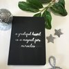 Black Journal notebook with inspirational grateful quote Gift Birthday Bridesmaid  by Love & Sparkles