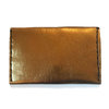 Gold leather hand stitched wallet by MAEVE