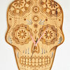 Mexican Candy Scull Bamboo Clock by HALLO JANE