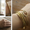 The Knot bangle  by ORA - made not manufactured -