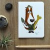 ​Basset hound paleontologist greeting card by Terrapin and Toad