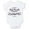The BEST parents get promoted to GRANDPARENTS/BABY ANNOUNCEMENT/PREGNANCY REVEAL onesie - Baby Grow - Baby bodyvest - Unisex - cute onesie - Baby Announcement Idea - Pregnancy Reveal by Little Lion Cub Studio
