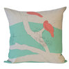 """Bird scribbles"" cushion cover in mint and papaya by i Spy"