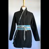 Black And Blue Melton Coat by Misc. Clothing