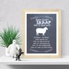 Baa Baa Black sheep printable wall art  by hcmorrison printables