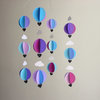 "Hot Air Balloon Baby Mobile ""Blue Hullabaloo"" by younghearts"