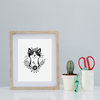 Bohemian Cat Limited Art A4 Print by Sugar and Vice
