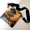 Upcycled Sling Bag made from braai coal paper bag by Creative Lines