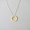 Brass Hammered Circle Pendant by Liwo Design
