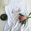 White & Rose Gold Bride Vest - Bridal gift by Love & Sparkles