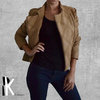 Biker Jacket Brown by PK Designs