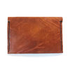 Tan leather hand stitched wallet  by MAEVE