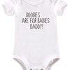 Boobies are for babies Daddy baby grow by BTSN Design (Pty)LTD