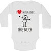 I love my brother this much baby grow by BTSN Design (Pty)LTD