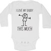 I love my Daddy this this much baby grow by BTSN Design (Pty)LTD