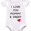 I love you Mommy and Daddy baby grow by BTSN Design (Pty)LTD